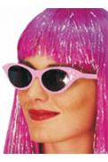 50s Rock and Roll Sunglasses - Pink